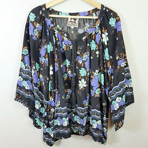 JAASE-Womens-Floral-Blouse-Top-Oversized-Size-M-or-AU-12-US-8