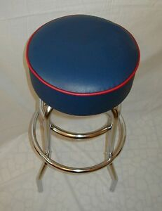 Blue-Bar-Stool-Stools-Counter-Top-Chair-Seat-Rec-Room-Kitchen-Awesome-NIB