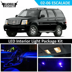 16x Bulbs Blue Interior LED Light Package for 2002-2006 Cadillac Escalade SUV