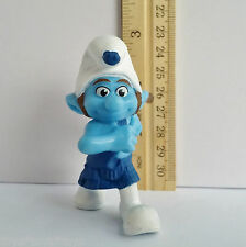 Smurf GUTSY Brave March 2011 Peyo Toy PVC Figure McDonalds