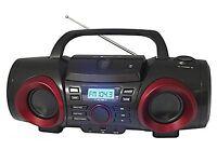Naxa Electronics Npb-267 Mp3/cd Boombox With Bluetooth (red & Black)