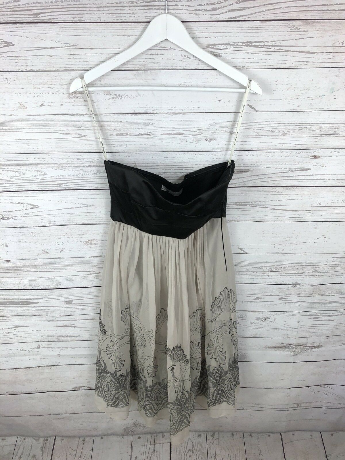 KAREN MILLEN Strapless Dress - UK10 - Silk - Great Condition - Women's