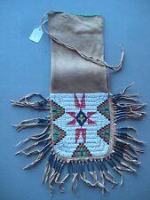 NORTHERN PLAINS BEADED PIPE BAG, AMERICAN INDIAN BEADED CHANUPA BAG,  CO-331