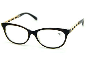 591504d33fd Classic Vintage Big Frame Gold Chain Temple Clear Reading Glasses ...