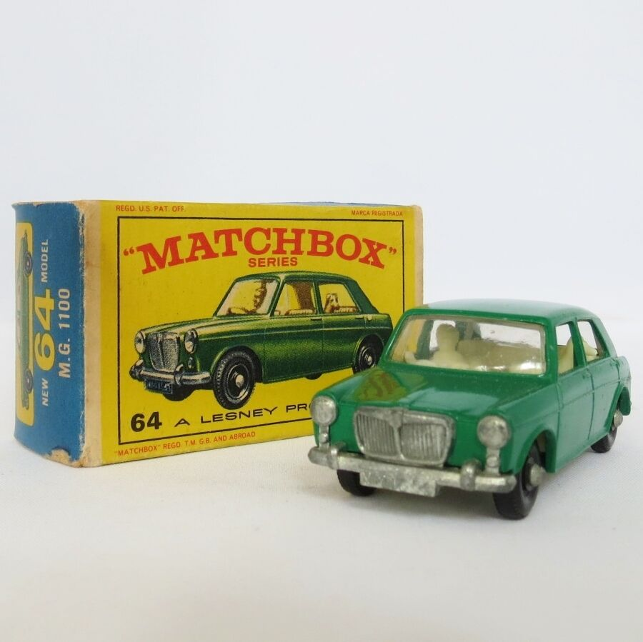 Matchbox Lesney  64 64 64 MG 1100 Original Box England verde 3c76e9