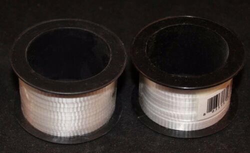 """Lot of  2 55 ft American Greetings White 1//4/"""" Curling Ribbon 18.3 yd"""