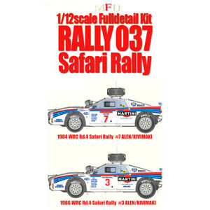 Mfh 1/12 Rally 037 Safari Ver.h Martini Racing 1984 Wrc Complet Détail Kit