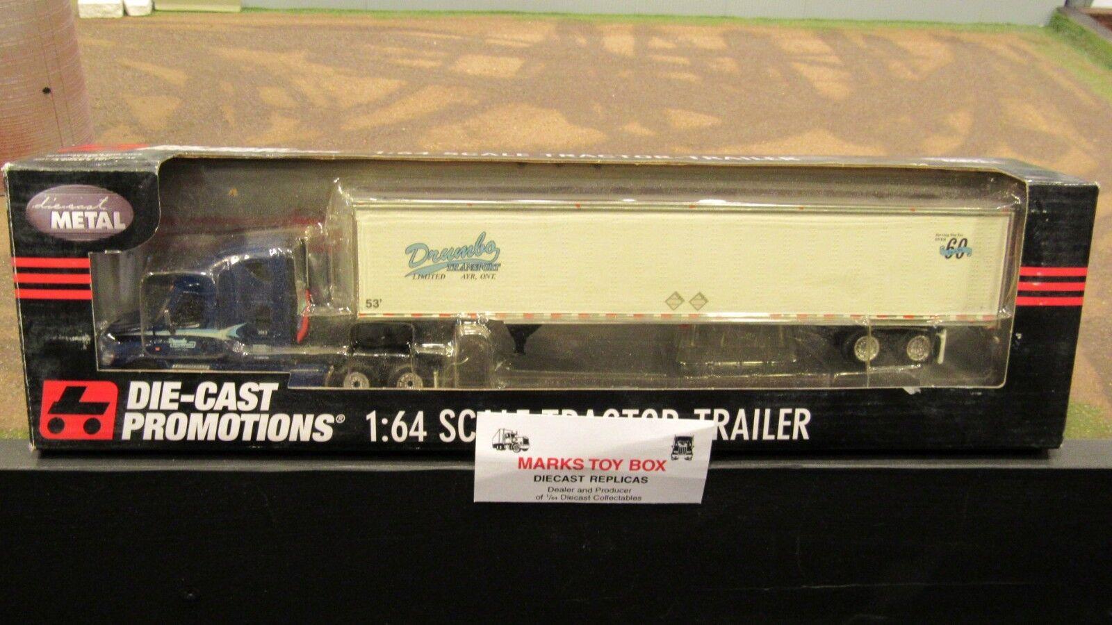 DCP  33050  B Drumbo transport FL Cascadia Semi Cab camion & remorque 1 64 File voitured  magasin en ligne