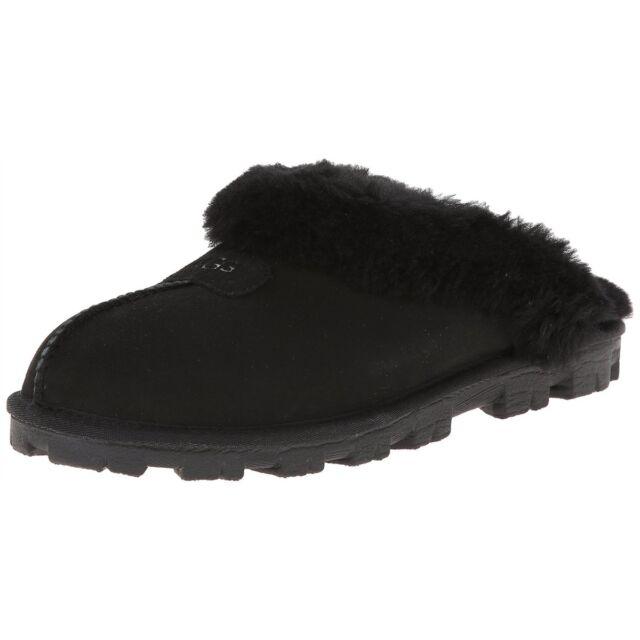 ugg australia 5125 women s coquette slippers black authentic 6 ebay rh ebay com