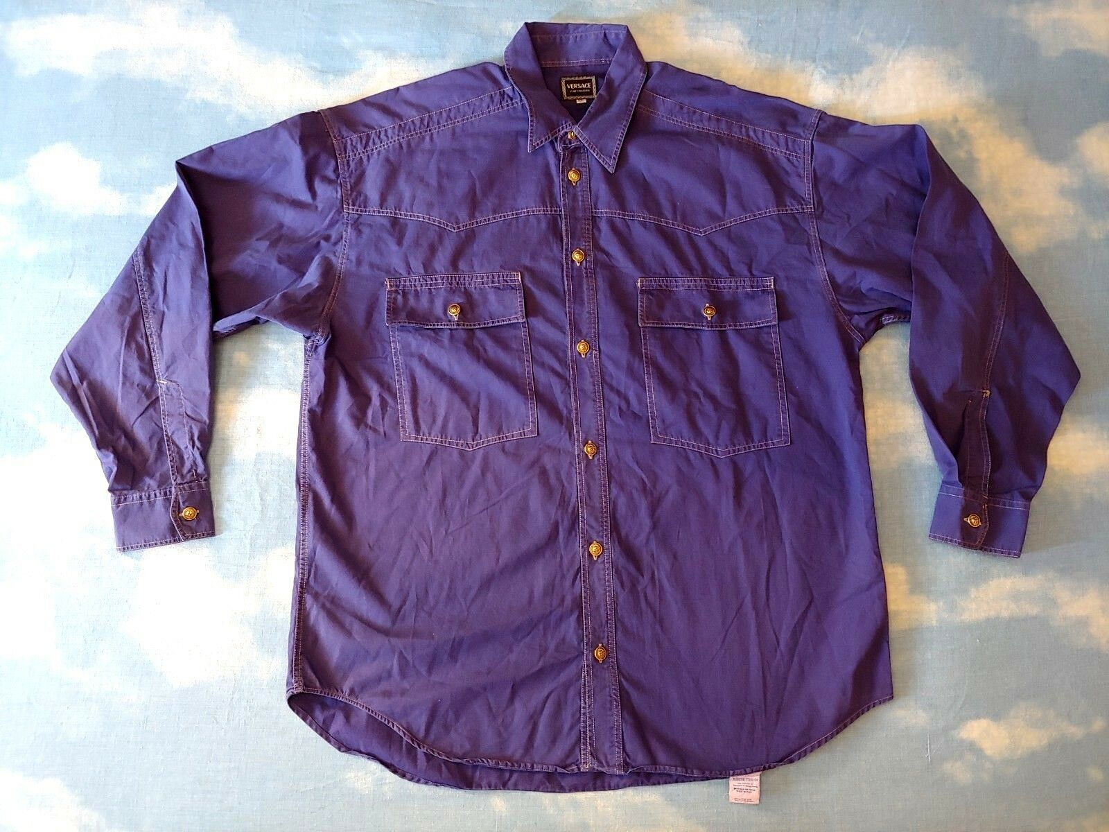 SHIRT Uomo 90's VERSACE Jeans Couture TG.XL  made in    Rare