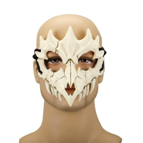 Dragon Cosplay Long Tiger Party Mask Party Costume Bone Resin White Teeth Mask