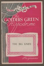 The Big Knife. Golders Green.  Frank Singuineau Theatre Programme.    c84