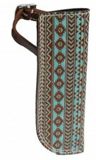 Showman Leather Teal Navajo Flag Carrier Saddle Accessory Horse Tack
