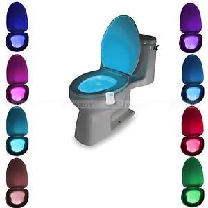8 Color Bathroom Toilet Nightlight LED Body Motion Sensor Night Lamp Light