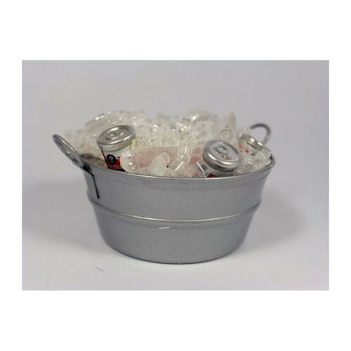 CREAL 72550 Ice Bucket with Cans 1:12 for doll house NEW #