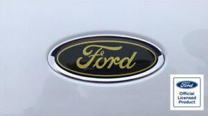 Ford Fiesta Mk6 GEL Badge OVERLAYS St Zetec S Black Yellow Ford Badges Set of 3