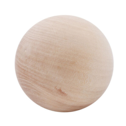 Natural Wooden Craft Wood Balls Sphere Painting Craft Supplies AL