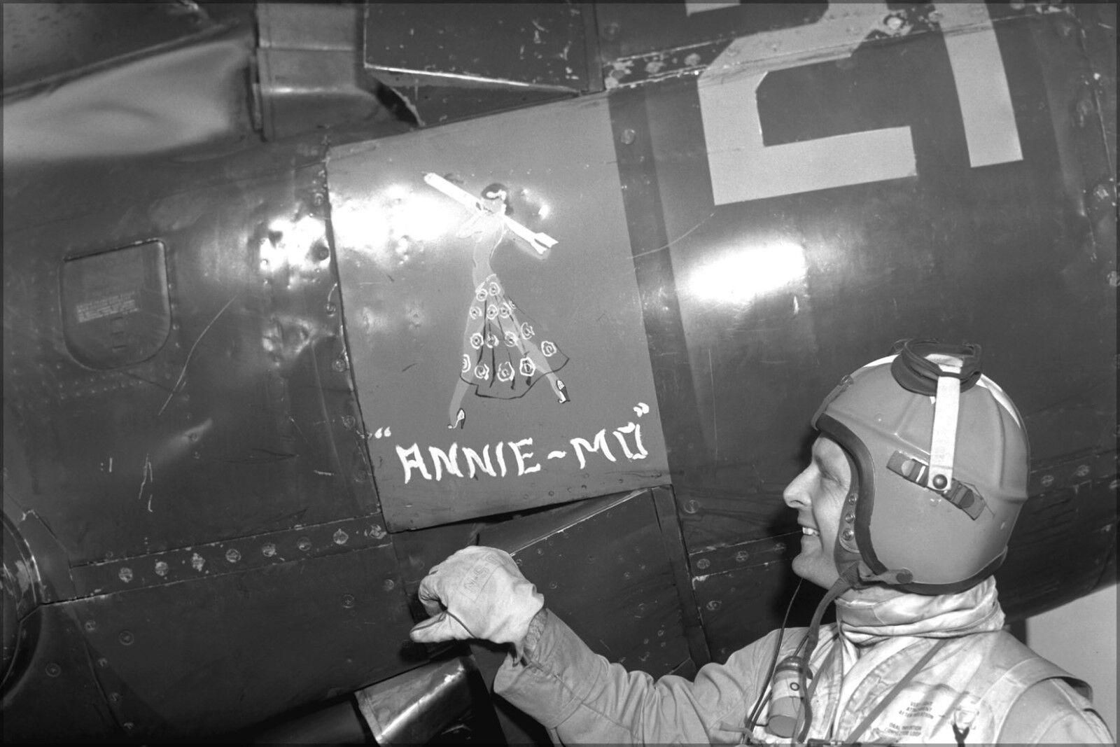 Poster, Many Größes; Lt Guy Bordelon Usn Fighter Ace Korean War 1953