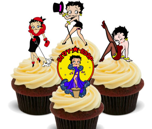 Girl Betty Boop Mix Edible Cupcake Toppers Standup Fairy Cake Bun Decorations