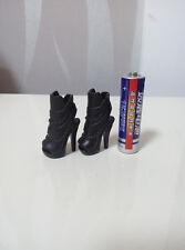 """Custom Cosplay DIY 1/6th Black Women's Shoe For 12"""" Phicen Female Figure Body"""