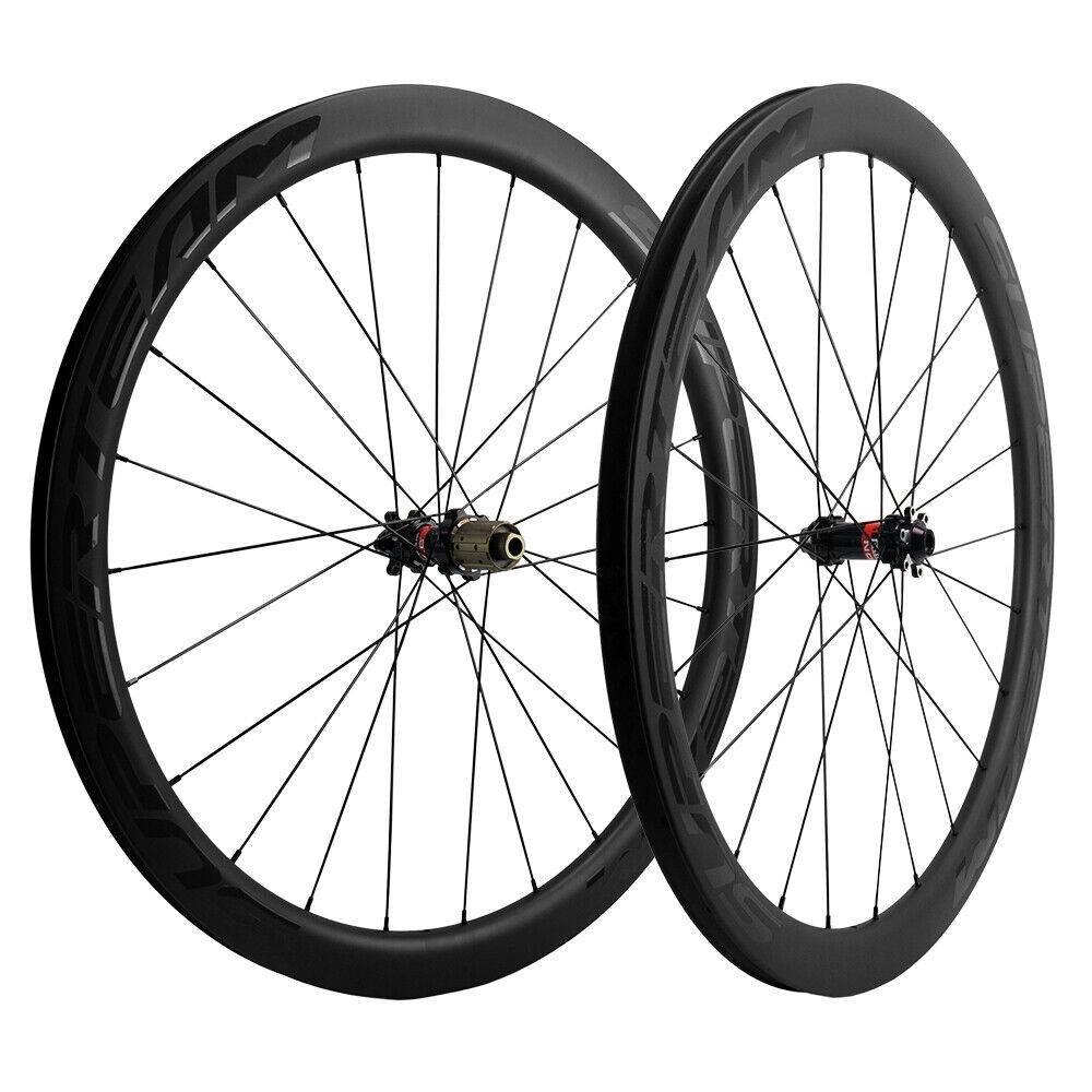 Superteam Disc Brake Carbon Wheelset 45mm Clincher Carbon Wheels Tubeless Wheels