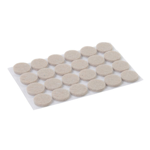 Self Adhesive Felt Pads Chair Table Floor Protectors 24pk 20mm Dia - 900862