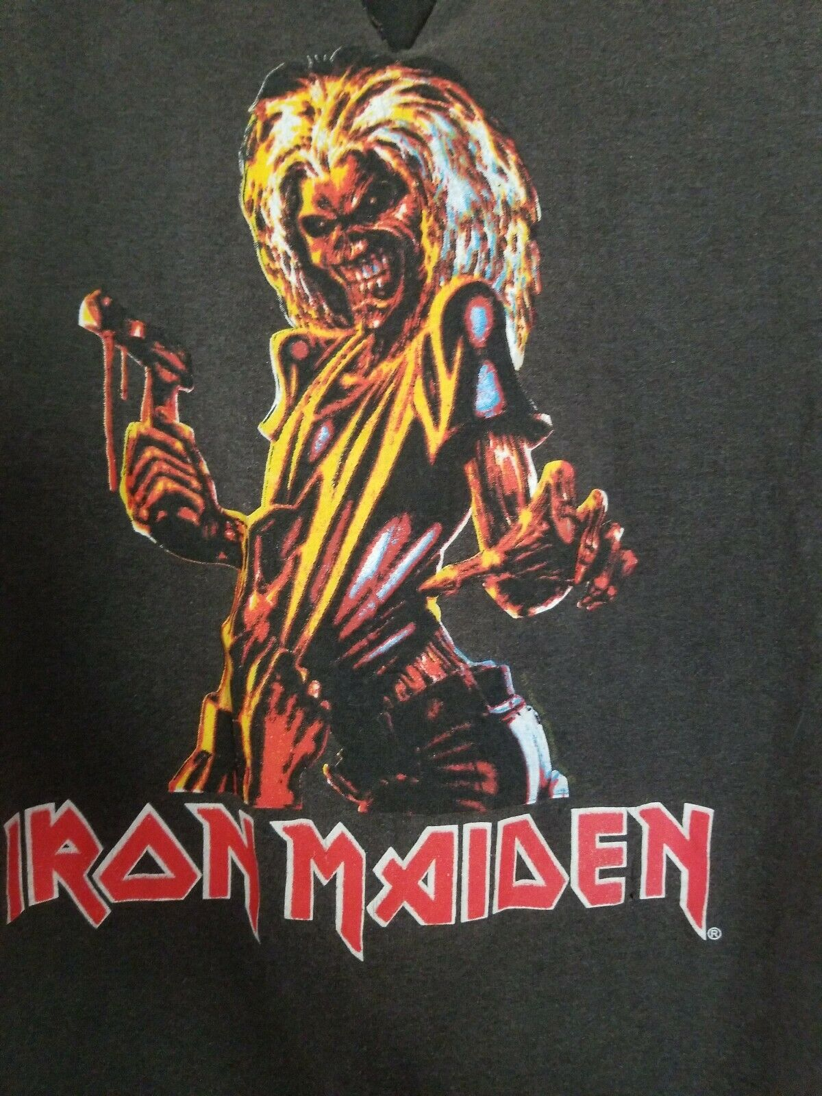 Vintage 80s Iron Maiden Small T-shirt Killers Wor… - image 12