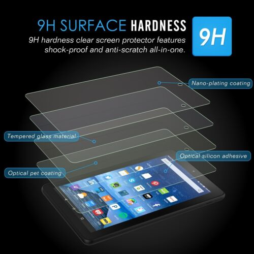 "PREMIUM Tempered Glass Screen Protector for Amazon Kindle Fire  hd  10/"" 2015"