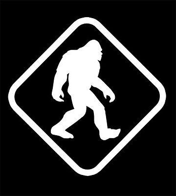 Bumper Sticker Bigfoot Crossing