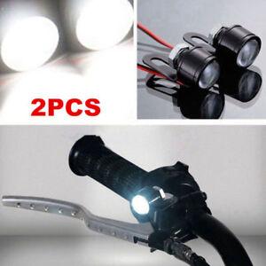 2Pcs-LED-Motorcycle-Handlebar-Spotlight-Headlight-Driving-Light-Fog-Lamp-White