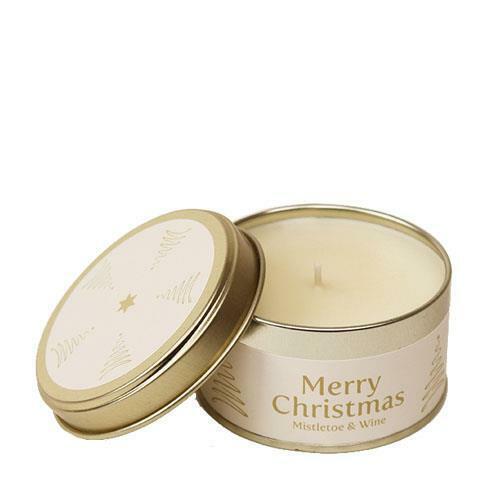 Pintail Candles muérdago y vino feliz Navidad Vela De Estaño Libre P/&P