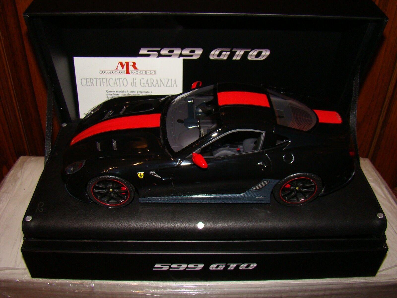 Ferrari 599 Gto NeraRosso Stripe Mr Collection 118 Eme Ed. Limitata 0225