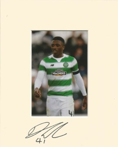 A 10 x 8 inch mount personally signed by Darnell Fisher of Glasgow Celtic.