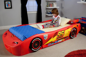 Boys Car Bed Lightning Mcqueen Disney Cars Twin Racer With