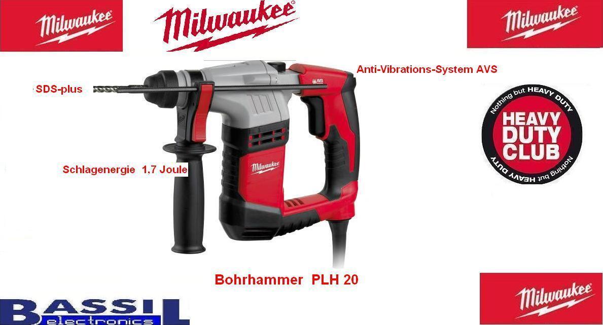 Milwaukee Bohrhammer  PLH 20  4933408070 in Koffer