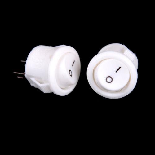 10 Stücke 16mm Weiß Runde Boot Wippschalter Mini 2Pin ON-OFF Schalter 3A//25 WCY