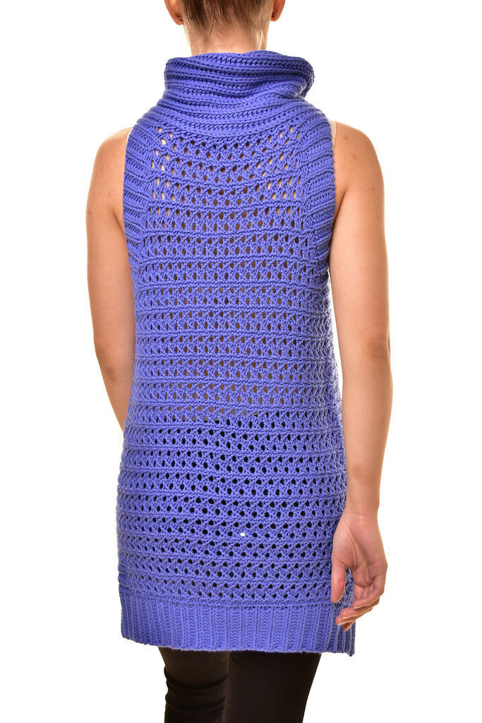 Free People Womens Womens Womens New OB791183 Northern Lights Knit Vest bluee RRP  BCF811 1d0004