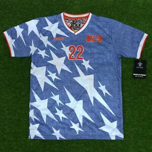 new product 318ad cbd38 Details about USA, Men's Retro Soccer Jersey, WC 1994, Lalas #22