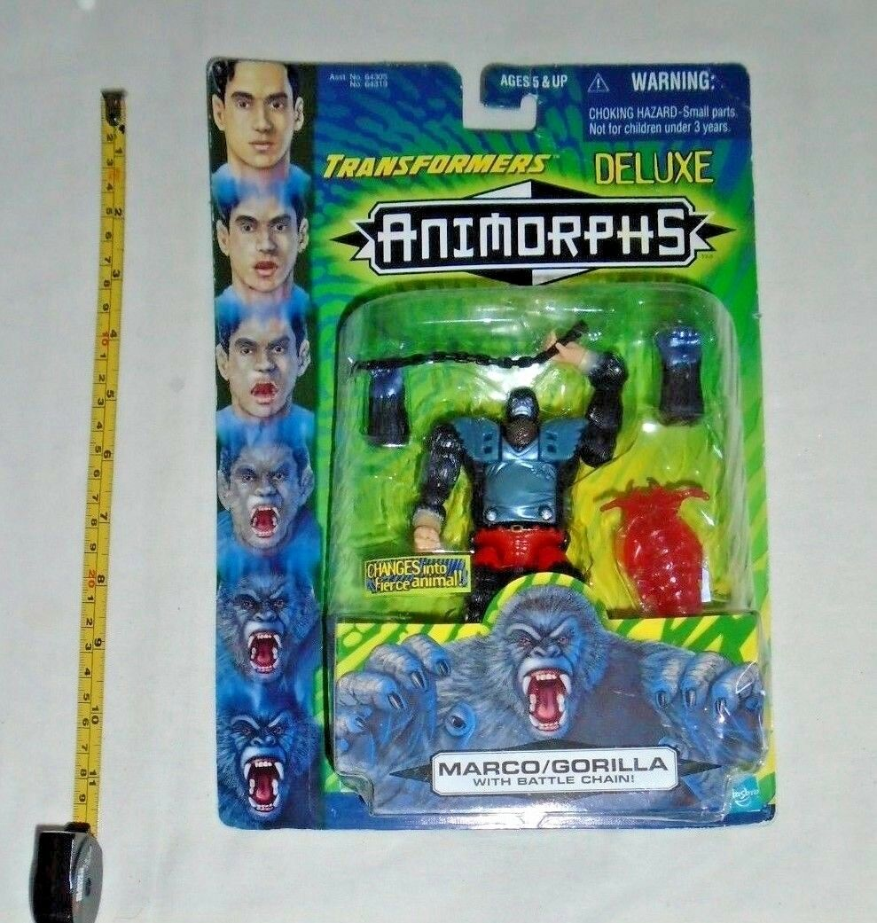 Vintage Transformers Animorphs Marco Gorilla Deluxe Hasbro 1998 Ages 5 Up