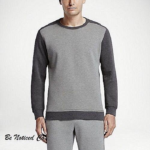 Nike Hof RF Roger Herren Rundhals XL Grau Pullover Freizeit Tennis Yoga Neu