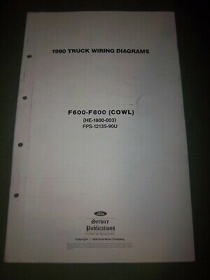OEM 1990 Ford F600 F700 F800 COWL Electrical Wiring ...