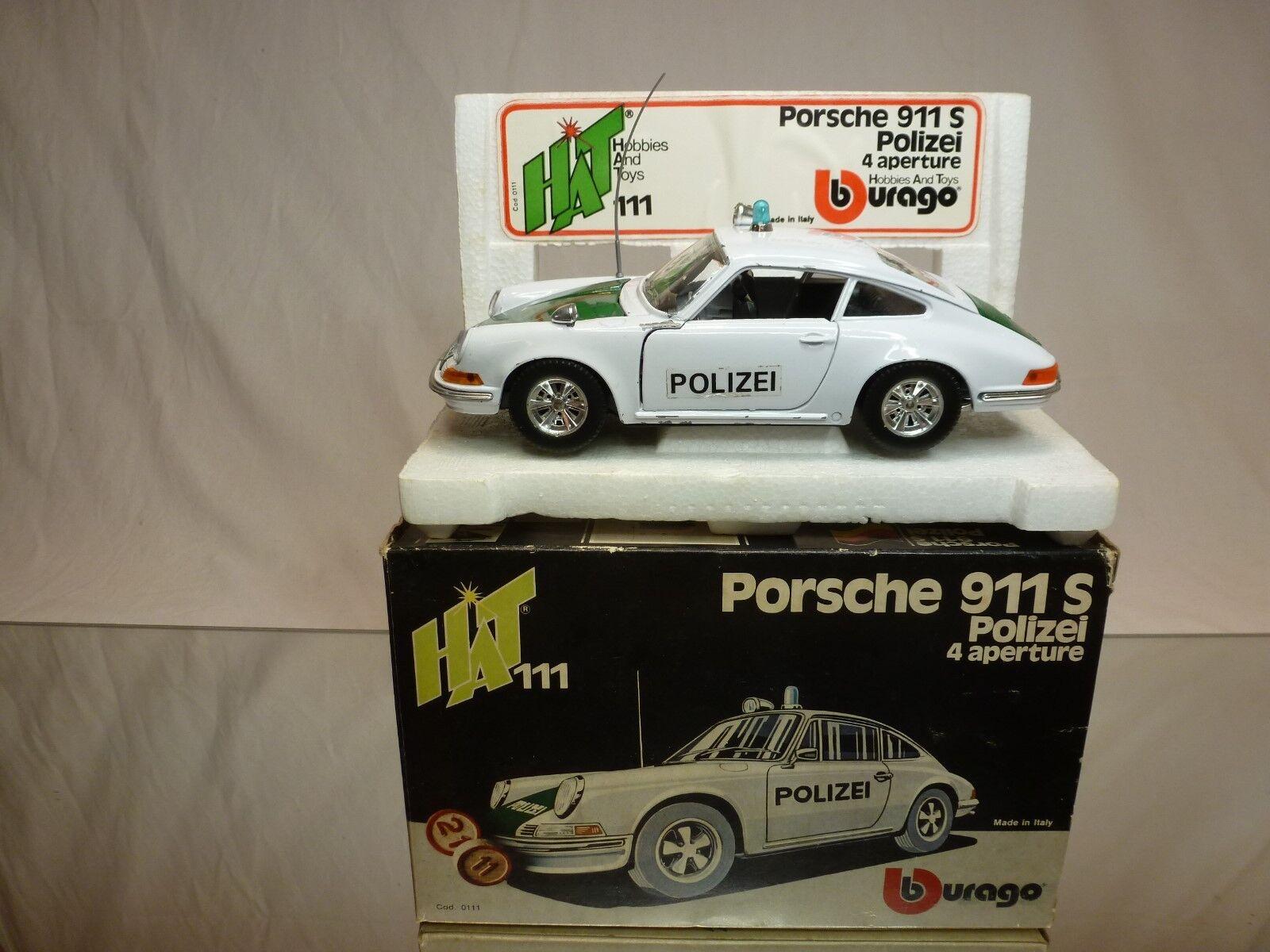 BBURAGO 1 24 PORSCHE 911 S POLIZEI 0111   -  GOOD CONDITION IN BOX - VERY  RARE