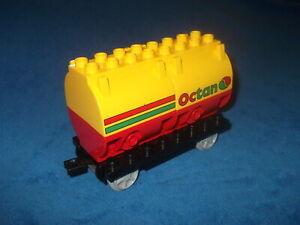 LEGO-DUPLO-VILLE-EISENBAHN-OCTAN-RIESIGER-WAGGON-ANHANGERKUPPLUNG-aus-5609-Gelb