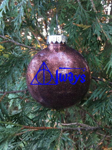 """Harry Potter Always 3/"""" Round Plastic Ornament Various Colors"""