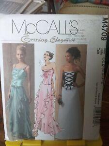 Oop-Mccalls-Evening-Elegance-4709-misses-prom-tops-skirts-flounce-sz-10-16-NEW