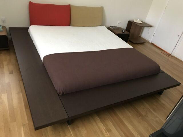 Cherry King Bed With Mattress Ebay - Maly-platform-bed-by-ligne-roset