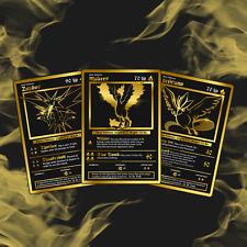 ZAPDOS - MOLTRES - ARTICUNO LUXURY POKEMON CARDS! RARE!