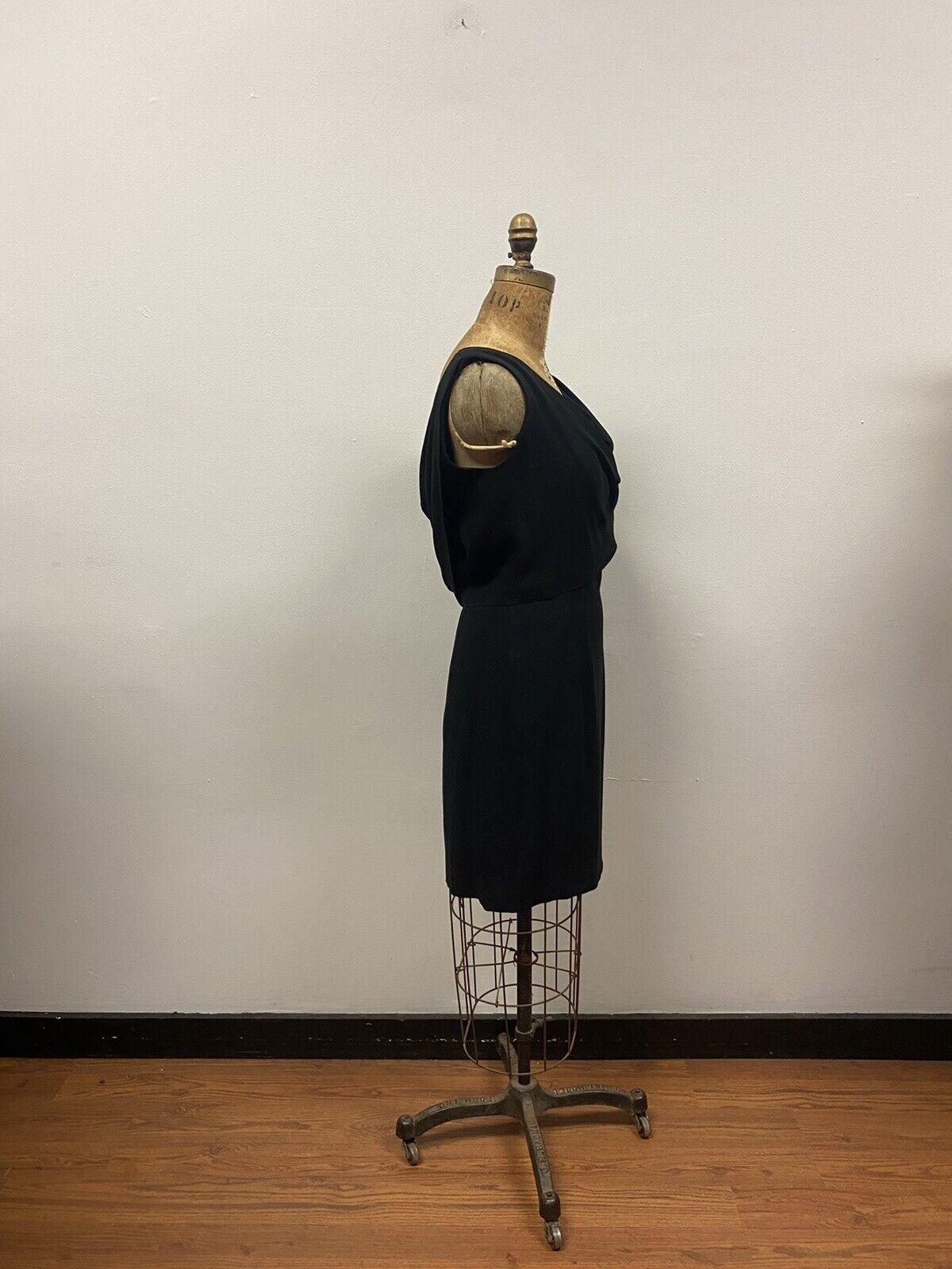 Vintage 1950's SUZY PERETTE Black Cocktail Dress,… - image 4