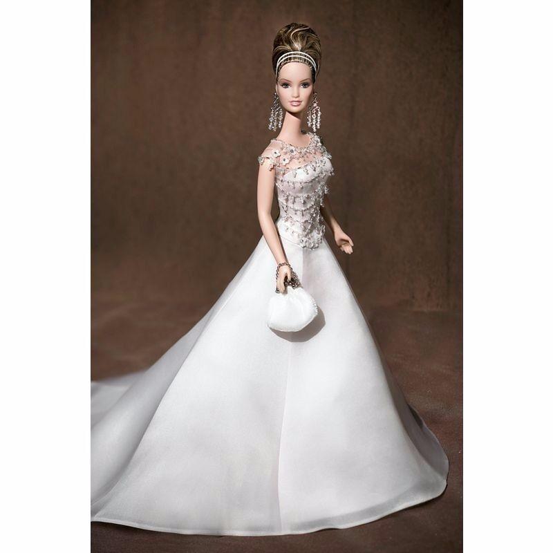Badgley Mischka novia oro Label Barbie Muñeca De Colección