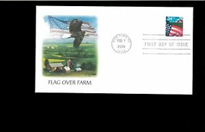 2001-First-day-Cover-Flag-over-Farm-New-York-NY